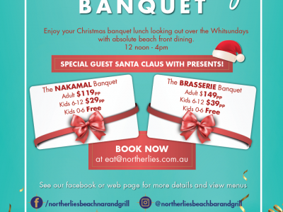 Northerlies Christmas Banquet Lunch